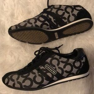 Perfect condition black coach sneakers!
